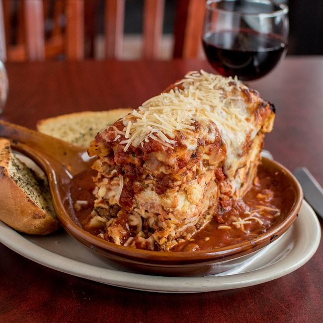 Lasagna at Falbo Bros Pizzeria