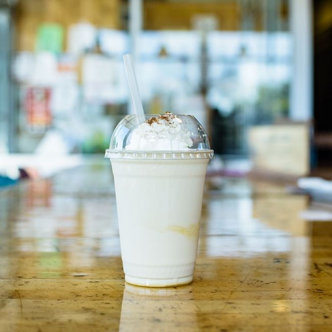Hand-Spun Caramel Shake at Out & Out