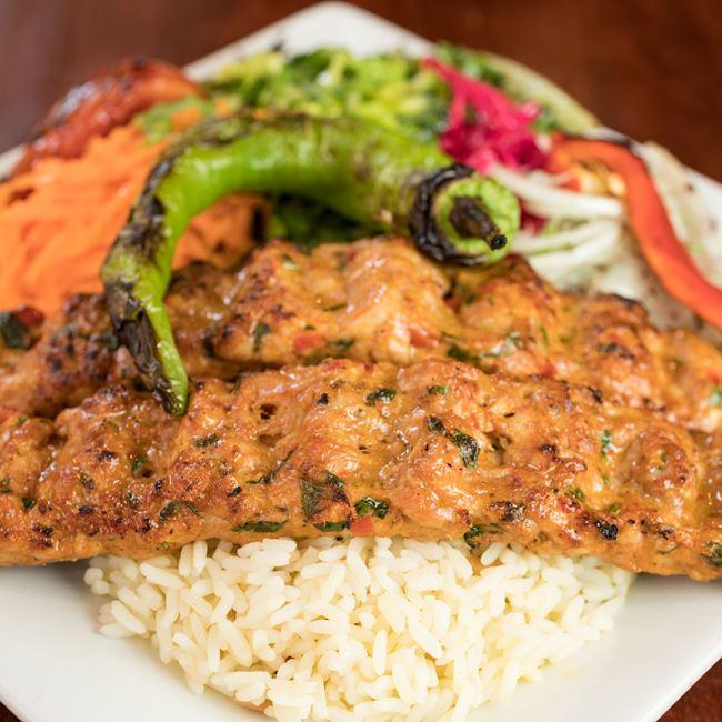 Chicken Adana Kebab at Efes Mediterranean Grill