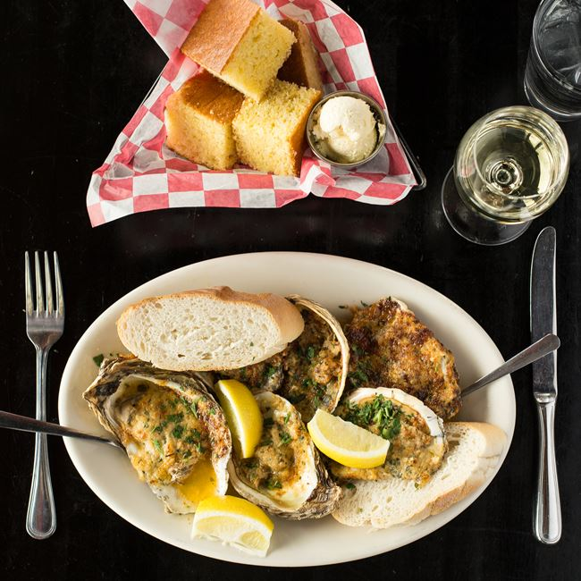 NOLA Grilled Oysters at Maxie's
