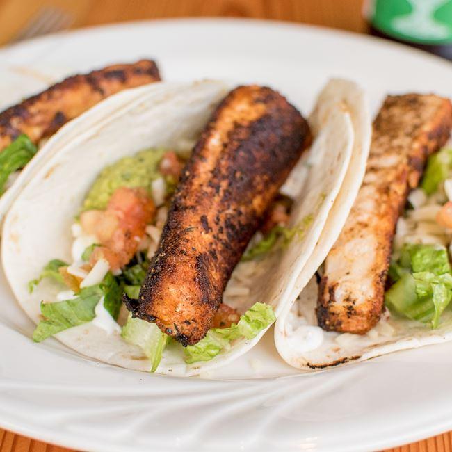 Blackened Mahi Tacos at TJ's Harbor Restaurant
