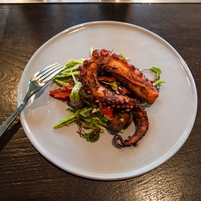 Charred Octopus at Avelina