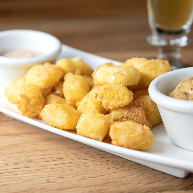 Cornmeal Dusted WI Cheese Curds at Granary
