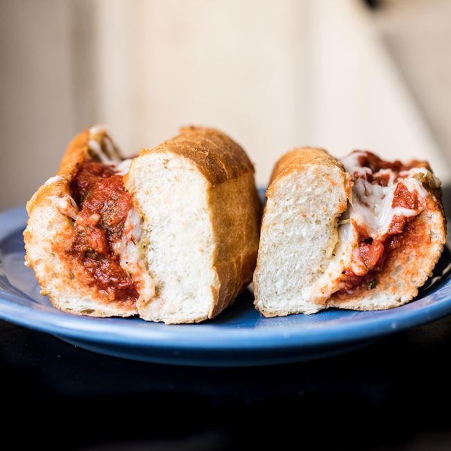 Vegan Meatball Sub at Strange Matter