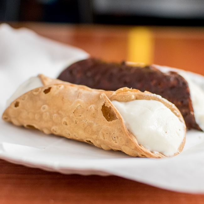 Chocolate and Original Cannoli at Sal's Pizza