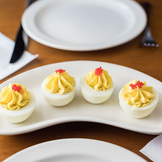 Deviled Eggs at Houligans Steak & Seafood Pub