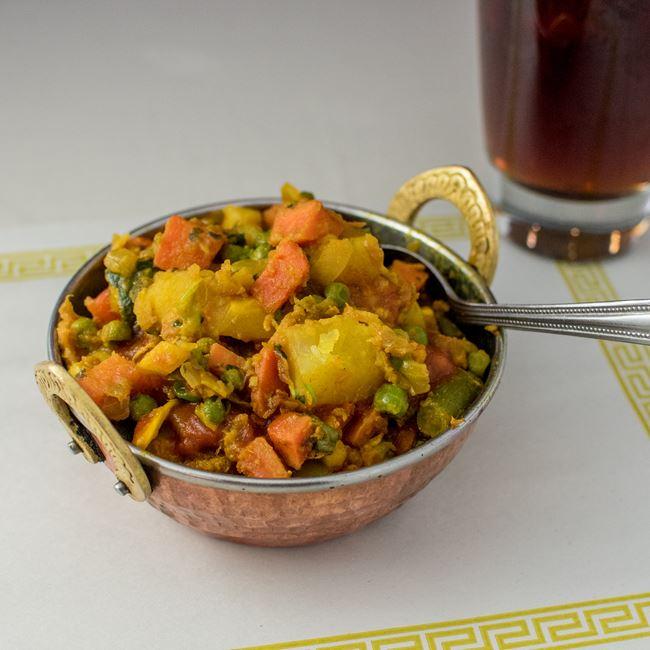 Vegetable Mix Curry at Maharani Indian Restaurant