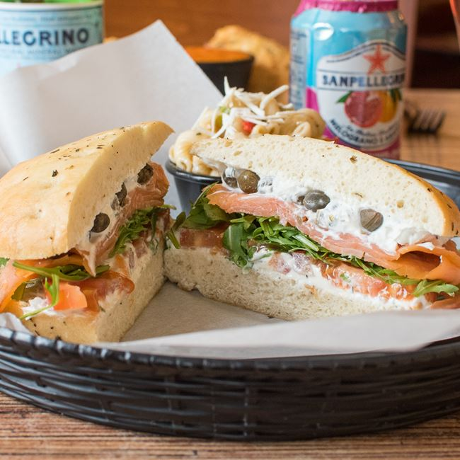 Smoked Salmon Sandwich at Villa Dolce Cafe