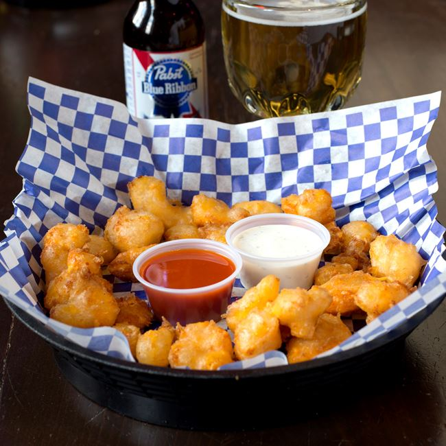 Wisconsin Cheese Curds at Jackson's Blue Ribbon Pub