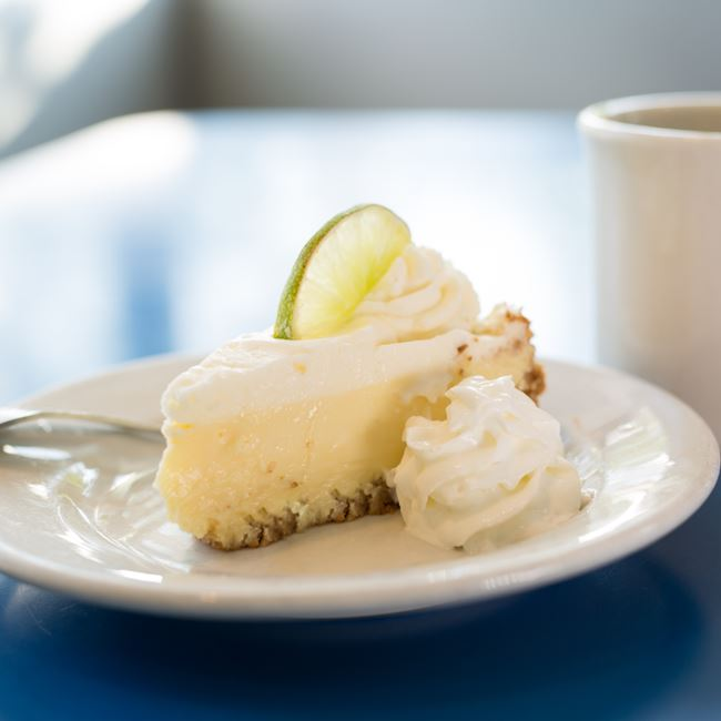 Key Lime Pie at Monty's Blue Plate Diner