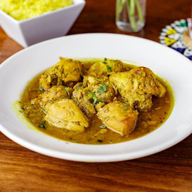 Jamaican Curry Chicken at Irie Zulu
