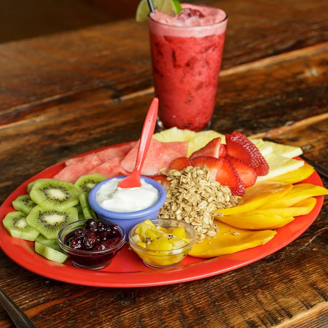 Tropical fruit plate at BelAir Cantina