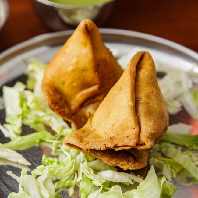 Samosa at OM Indian Fusion Cuisine