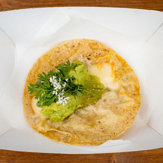 Vegetarian Taco Tomatillo at Mazorca Taco Truck