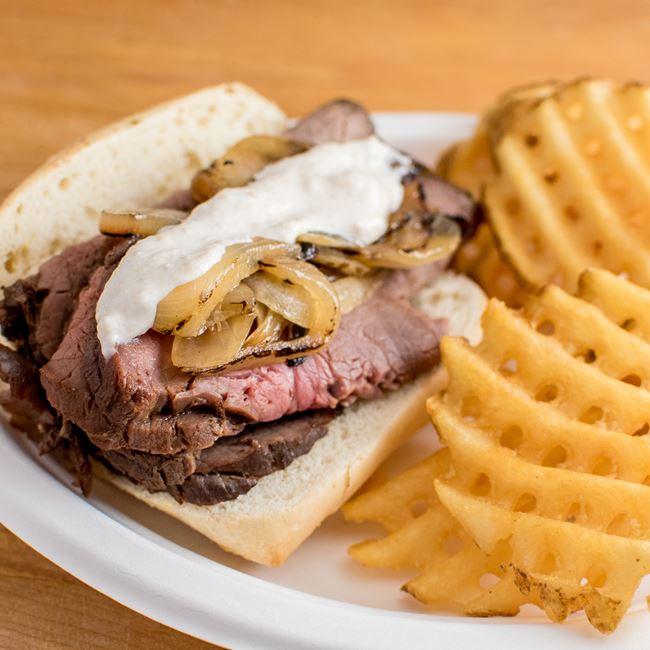 Prime Rib Sandwich at 112 Supper Club