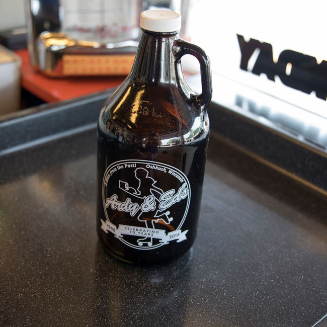 "Ardy & Ed's ""Famous"" Root Beer - Brown Jug at Ardy & Ed's Drive In"