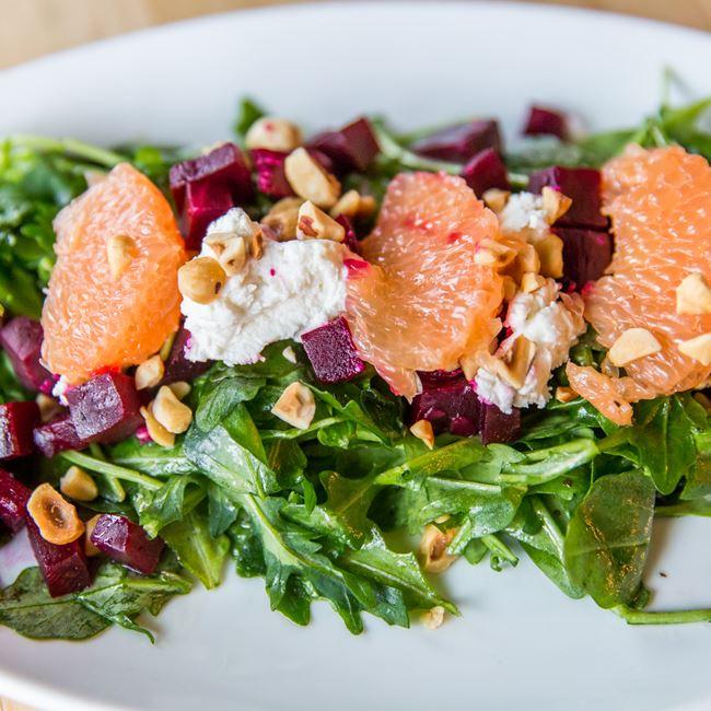 Roasted Beet Salad at Homegrown Tap & Dough