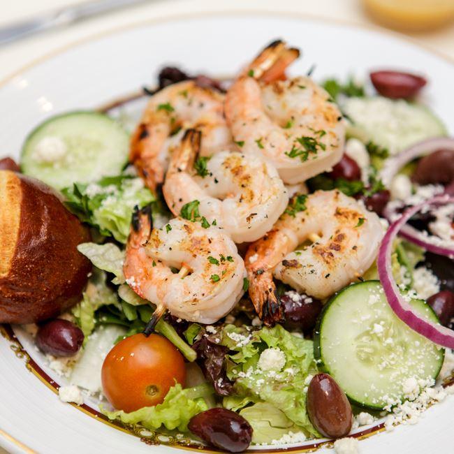Smokey's Mixed Grill Salad with Shrimp at Smokey's Fine Dining Restaurant