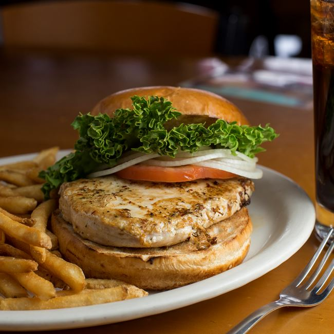 Grilled Chicken Sandwich at Husby's Food & Spirits