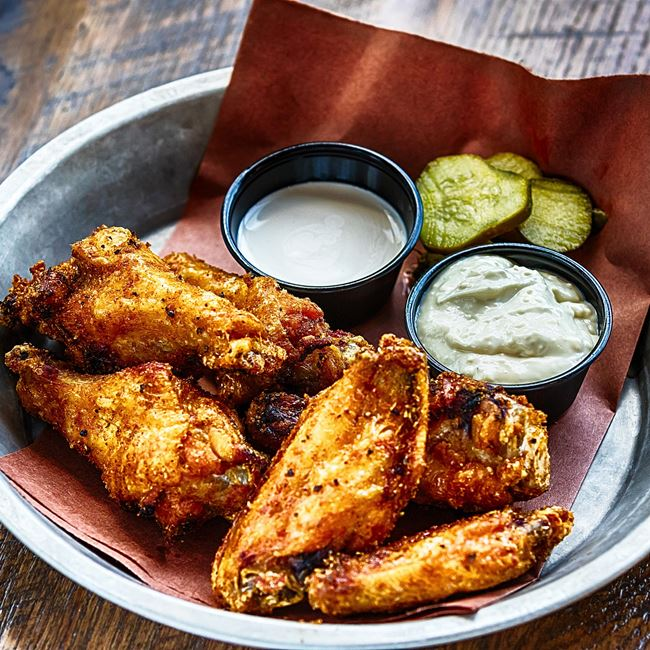 Smoked Wings at DOC's Commerce Smokehouse