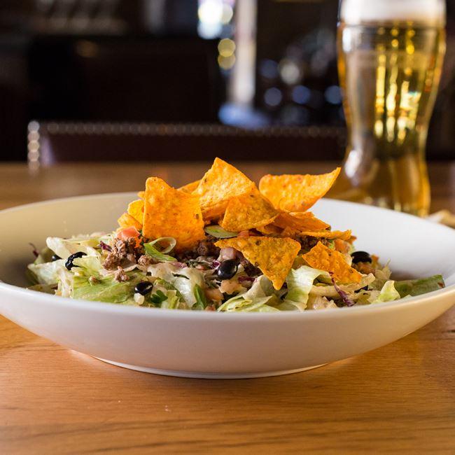 Tex-Mex Taco Salad  at Miller Time Pub & Grill