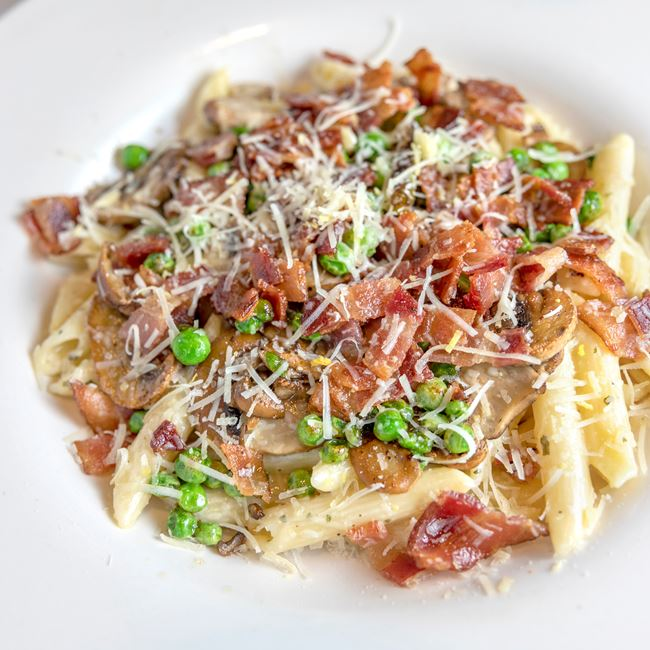 Carbonara at Benvenuto's Italian Grill