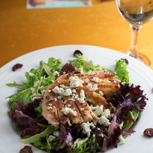 Door County Cherry Chicken Salad at Husby's Food & Spirits