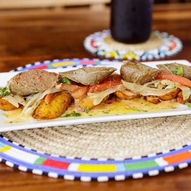 Afro Fusion Cuisine Sausage Canape