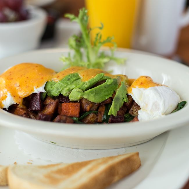 Rooted Veggie Hash at Blue's Egg