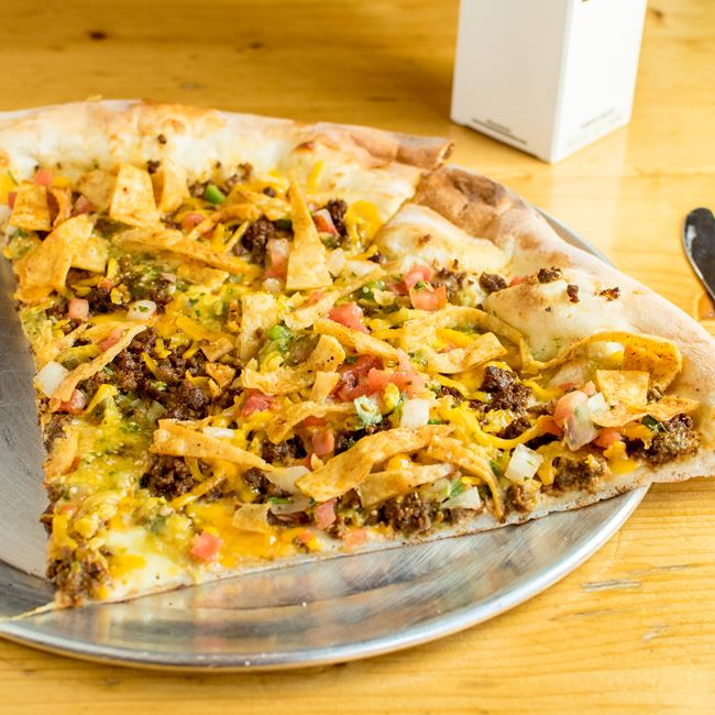 Macho Nacho Pizza at Ian's Pizza