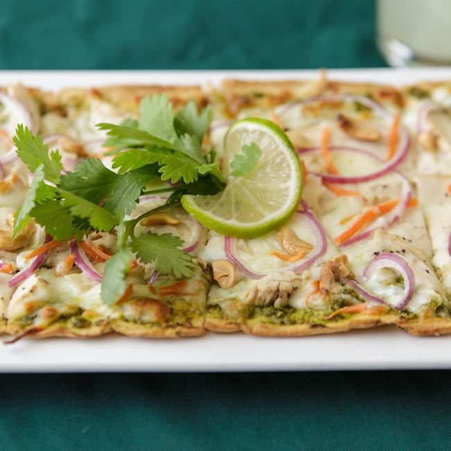 Thai Chicken Flatbread at Shamrock Pub-n-Eatery
