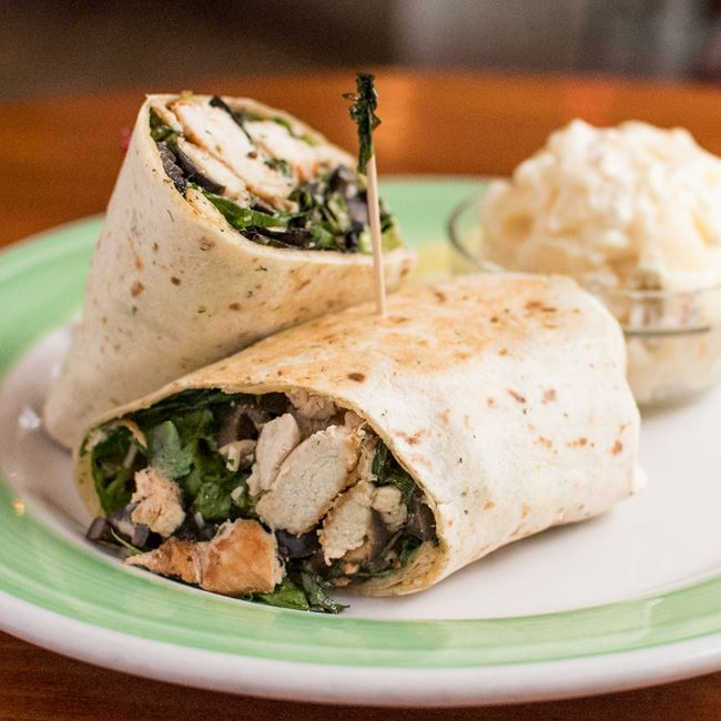 Italian Grilled Chicken Wrap at Mid Town Pub