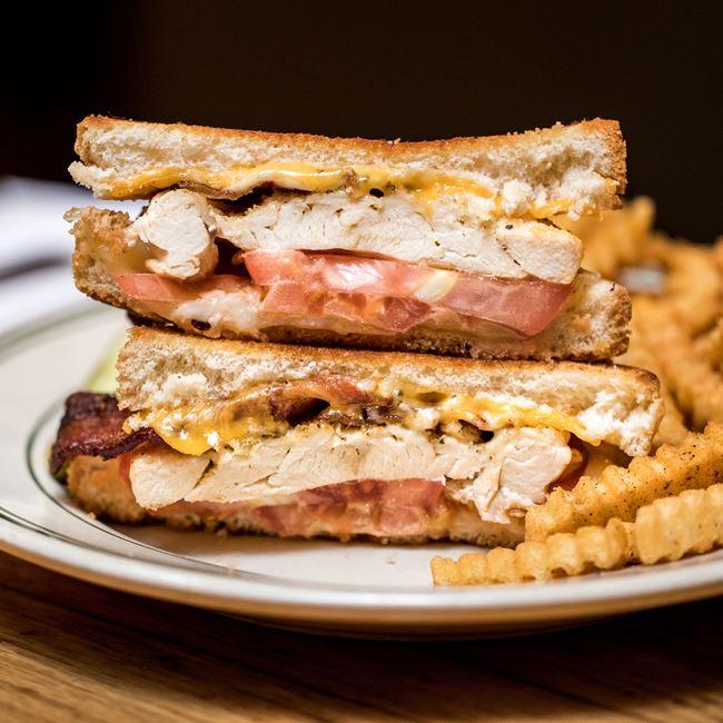 Chicken Melt Sandwich at Tarrant's Cafe