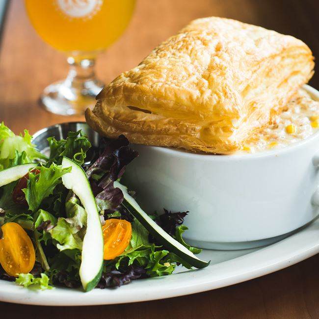 Creamy Chicken Pot Pie at Rockhound Brewing Company