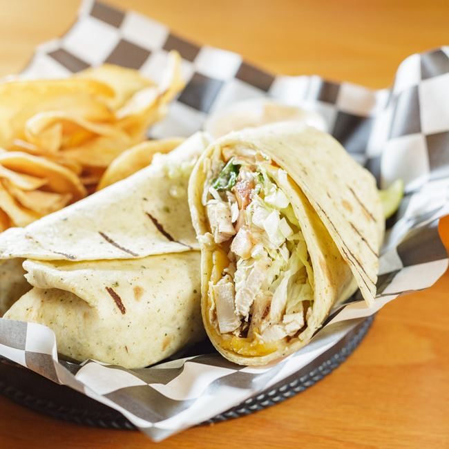 Chicken Bacon Ranch Wrap at Albee's Yacht Club