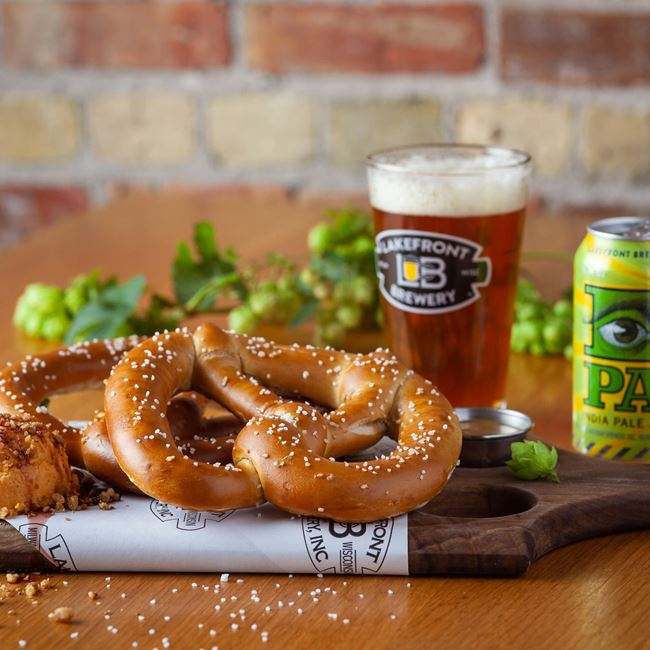 Bavarian Soft Pretzels at Lakefront Brewery