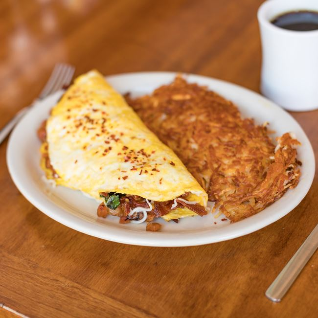Peppered Bacon Omelette at The Nucleus