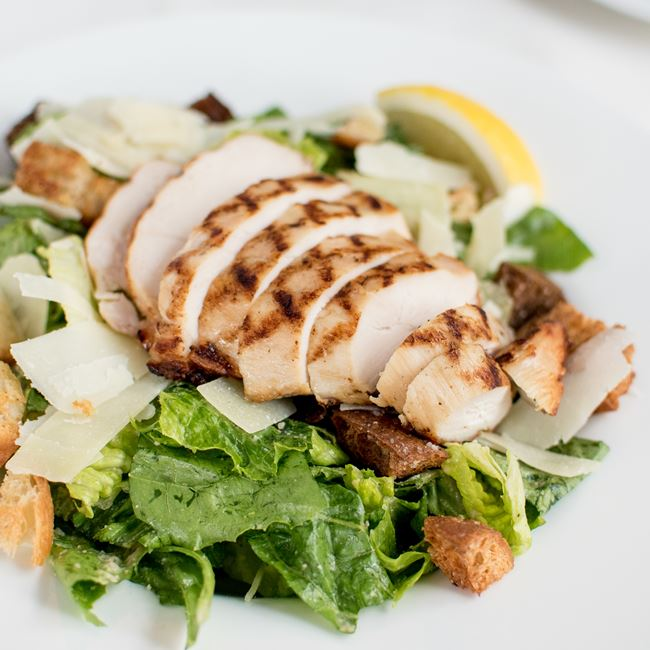 Grilled Chicken Caesar Salad at Johnny Delmonico's Steakhouse