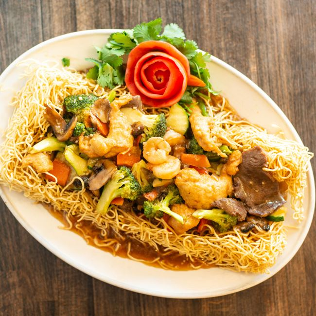 Gourmet Pan-Fried Noodles at TK WU