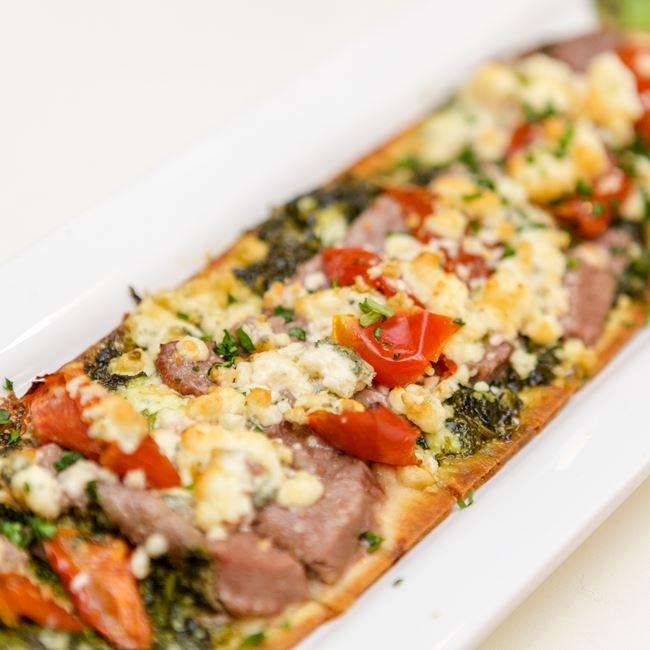 Beef Tenderloin Flatbread  at Smokey's Fine Dining Restaurant