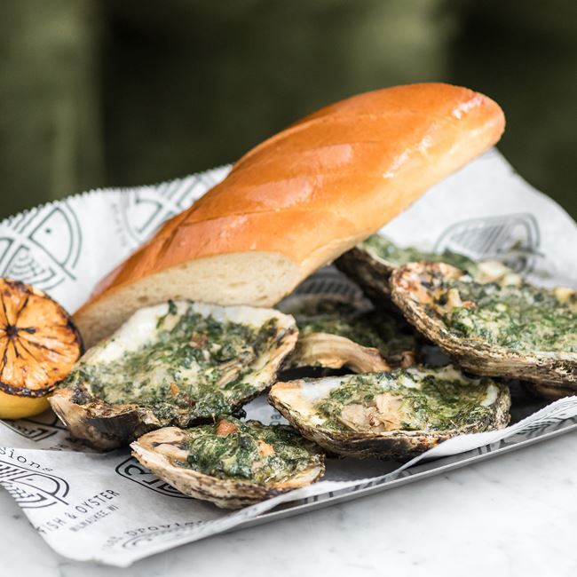 Chargrilled Oysters Rockefeller at Third Coast Provisions