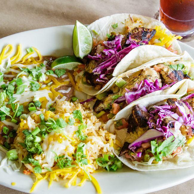 Beer-Battered Cod Fish Tacos at Babe's Grill & Bar
