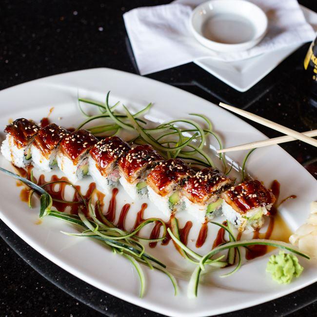Black Dragon Roll at Oriental Bistro & Grill