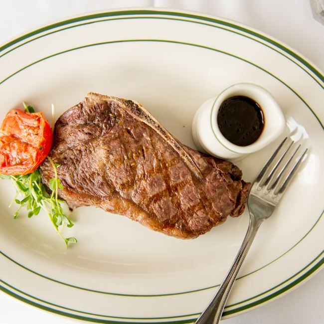 Prime Bone-In Strip at Barringer's Restaurant