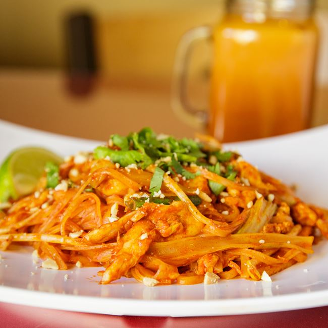 Pad Thai with Chicken at Nam's Noodle & Karaoke Bar