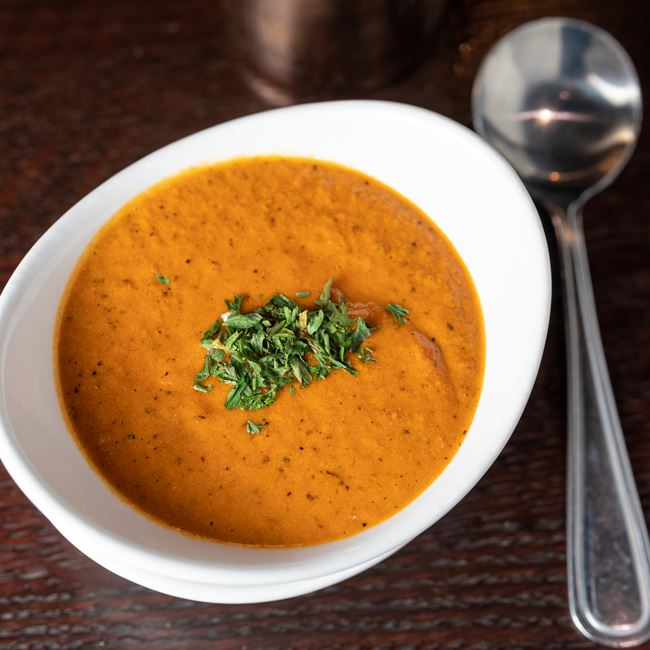 Tomato Basil Soup at Mahoney's Restaurant and Bar