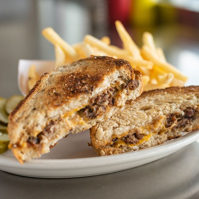 Patty Melt at Hunter House Hamburgers
