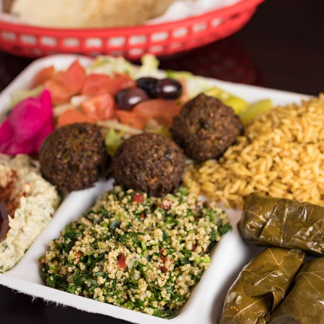 Veggie Plate Combo at Mamoun's Falafel Restaurant