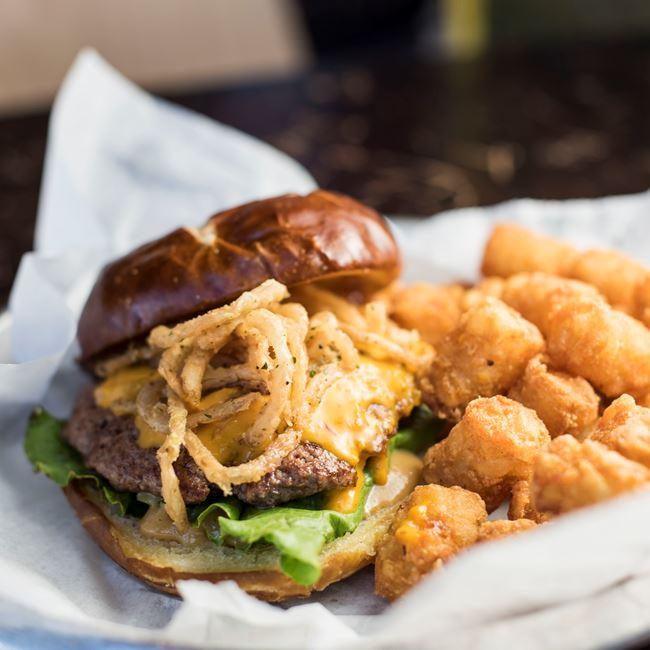 Colonel Mustard Burger at AJ Bombers