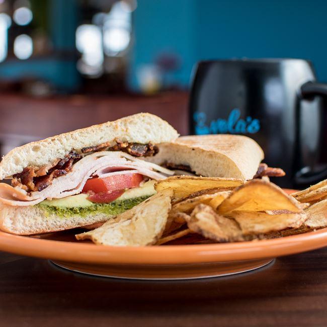California Turkey Sandwich at Yola's Cafe